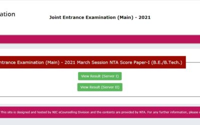 JEE Main 2021 March Result Declared for Paper 1, Check at jeemain.nta.nic.in