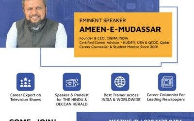 What after 12th ? –  by Eminent Speaker – Ameen-e-Mudassar on Zoom  (Today from 11 am – 1 pm)