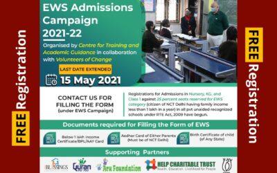 EWS Admissions Campaign 2021-22