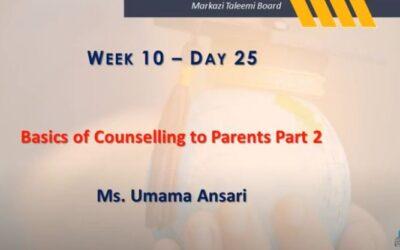 Online Teacher Education Program   Basics of Counselling to Parents Part 2   Ms. Umama Ansari