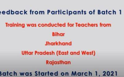 Online Teacher Education Program   Feedback from Participants   Batch 1