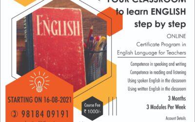Certificate Program in English Language for Teachers